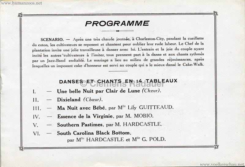 1927 Kermesse Nègre (Jardin d'Acclimatation) - S. 6