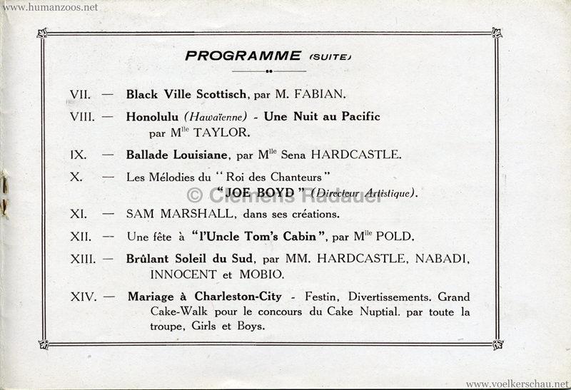 1927 Kermesse Nègre (Jardin d'Acclimatation) - S. 8