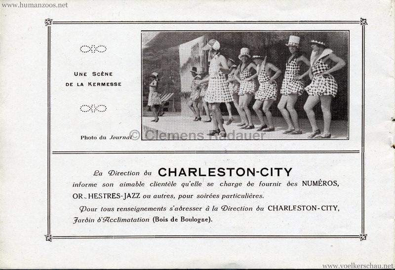 1927 Kermesse Nègre (Jardin d'Acclimatation) - S. 9