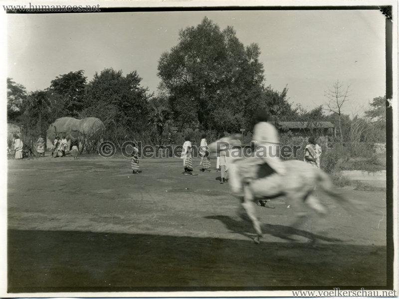1927 Völkerschau Somali Foto Reiter