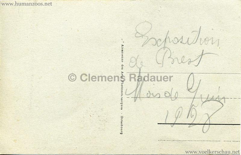1928 Exposition de Brest - Village Africain - 11. Les Moussis au travail RS