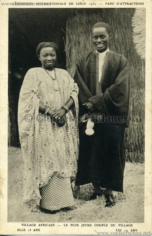1930 Exposition Internationale de Liége - Le plus jeune couple du village