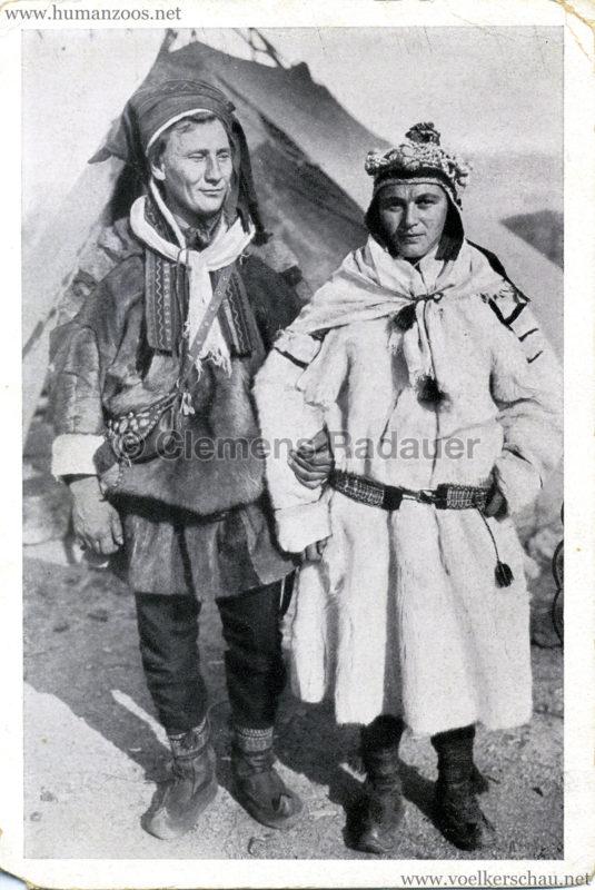 1930 L. Ruhe's Polarschau - Lappen-Brautpaar
