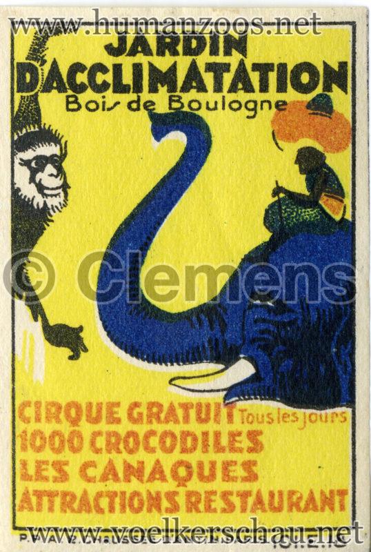 1931 Canaques - Jardin d'acclimatation STAMP 2