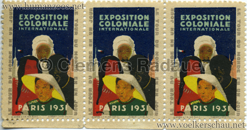 1931 Exposition Coloniale Briefmarken