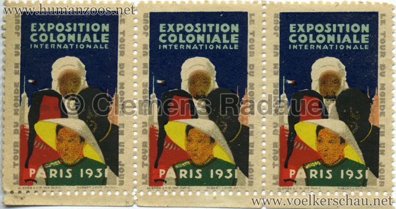 1931 Exposition Coloniale Briefmarken