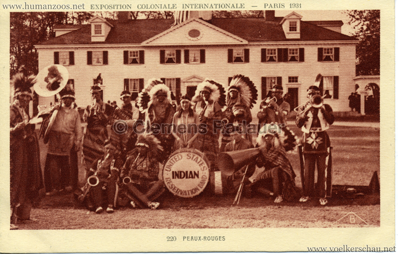 1931 Exposition Coloniale Internationale - 220. Peaux Rouges