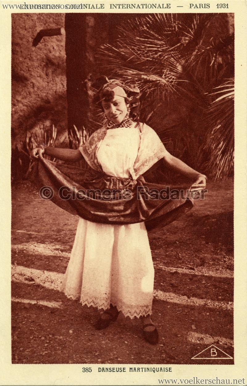 1931 Exposition Coloniale Internationale - 385. Danseuse Martiniquais