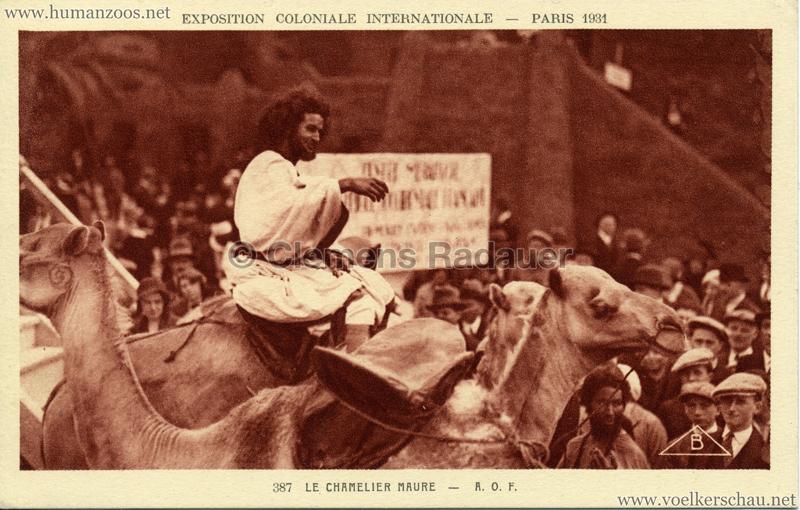 1931 Exposition Coloniale Internationale - 387. Le Chamelier Maure - A.O.F