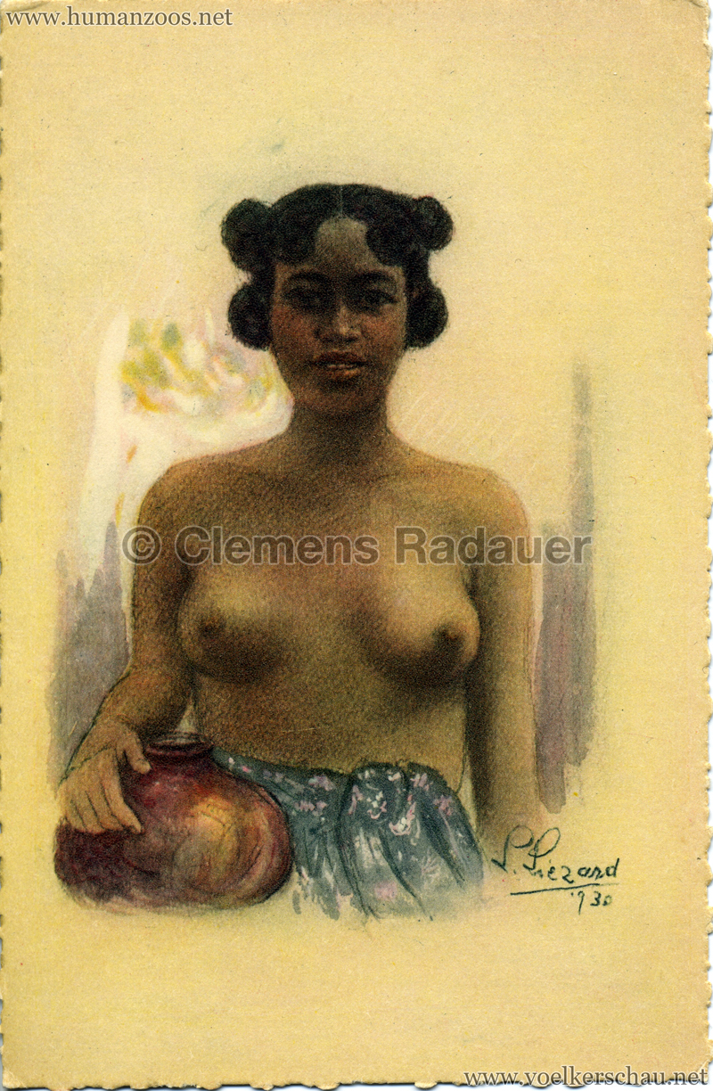 1931 Exposition Coloniale Internationale Paris Madagascar - Femme à la cruche