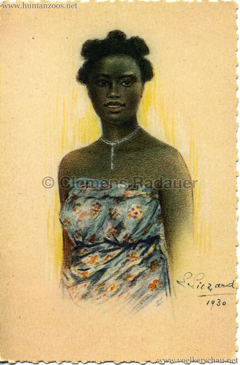 1931 Exposition Coloniale Internationale Paris Madagascar - Jeune fille bara
