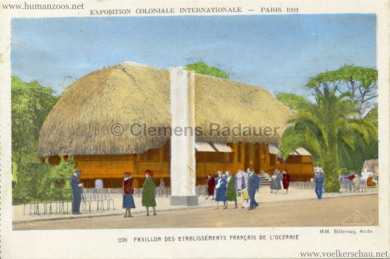 1931 Exposition Coloniale Internationale - Pavillon des Etablissements Francais de l'Oceanie