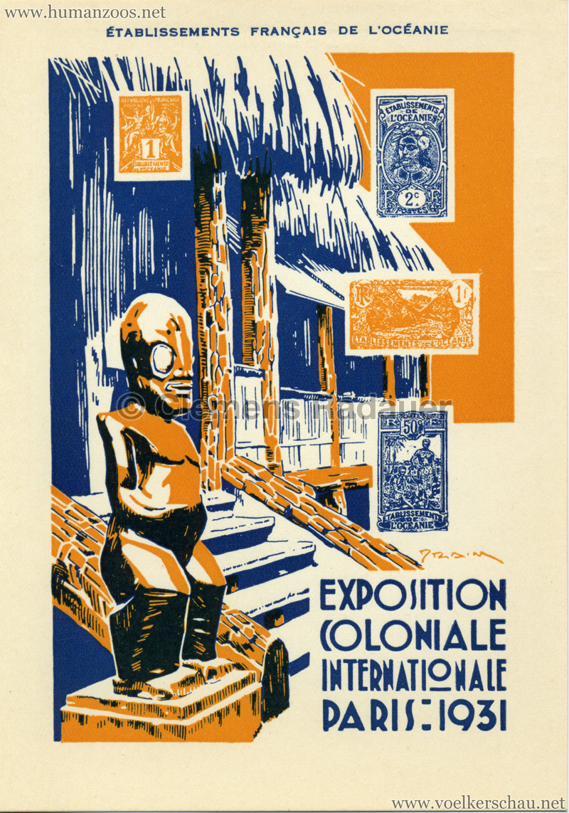 1931 Exposition Nationale Coloniale - Établissements Francais de l'Océanie