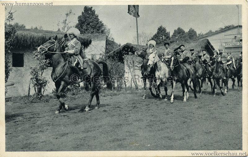 1932 Carl Hagenbecks Tierpark Altona - Stellngen Hamburg - Djigit Kuban Kosaken 2