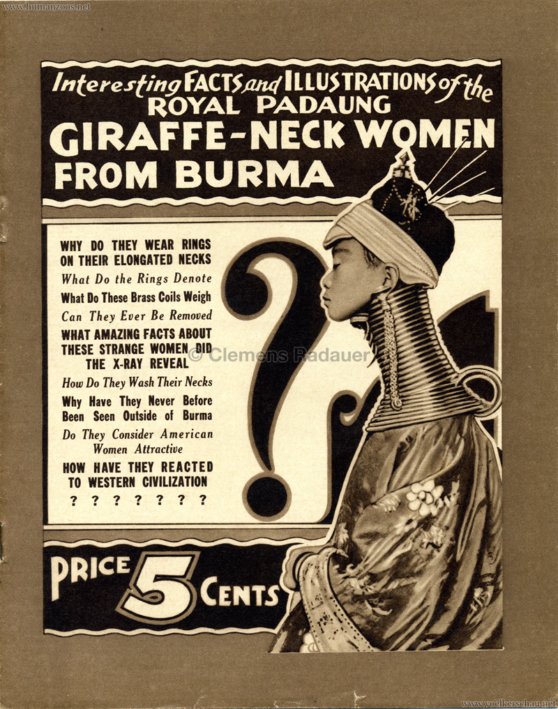 1933 Giraffe-Neck Women from Burma