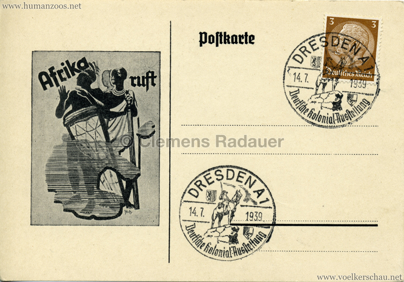 1939 Deutsche Kolonial-Ausstellung Dresden