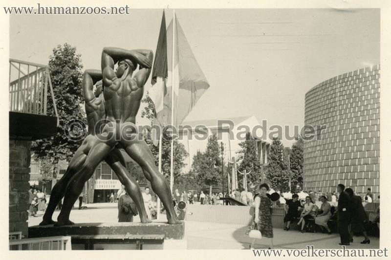 1958 Exposition Universelle Bruxelles - Afrikanische Statuen 3