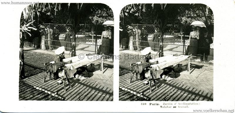 340 Paris. Jardin d'Acclimatation - Malabar au travail