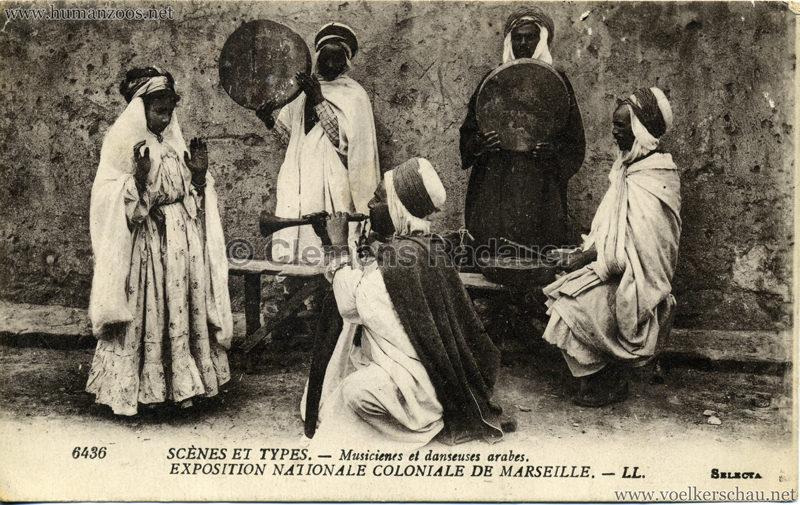 6436. Scènes et Types - Musiciens et danseuses arabes