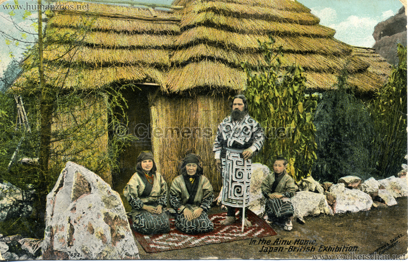 692. Japan-British Exhibition - In the Ainu Home