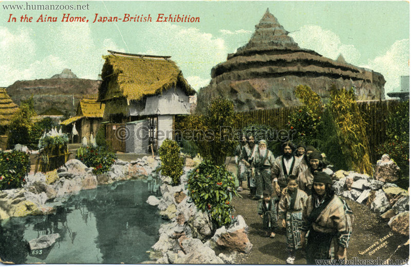 693. Japan-British Exhibition - In the Ainu Home