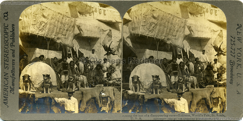1904 World's Fair, St. Louis - A-1532. Eskimo people (aborigines of Arctic America) - among the last of a disappearing race