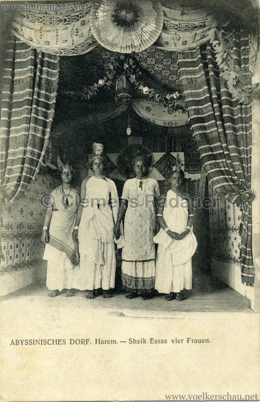 Abyssinisches Dorf - Harem - Sheik Essas vier Frauen