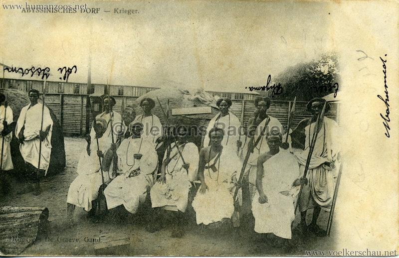 Abyssinisches Dorf - Krieger