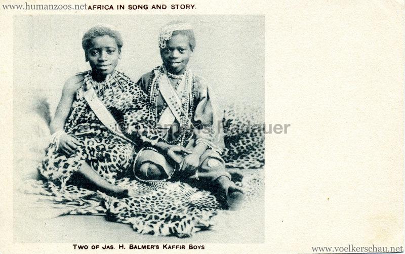 Africa in Song ans Story - Two of Jas. H. Balmser's Kaffir Boys