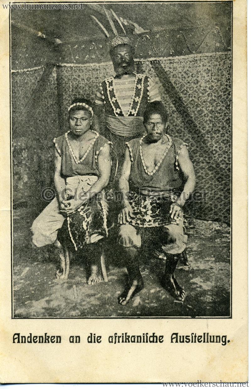 Andenken an die afrikanische Ausstellung