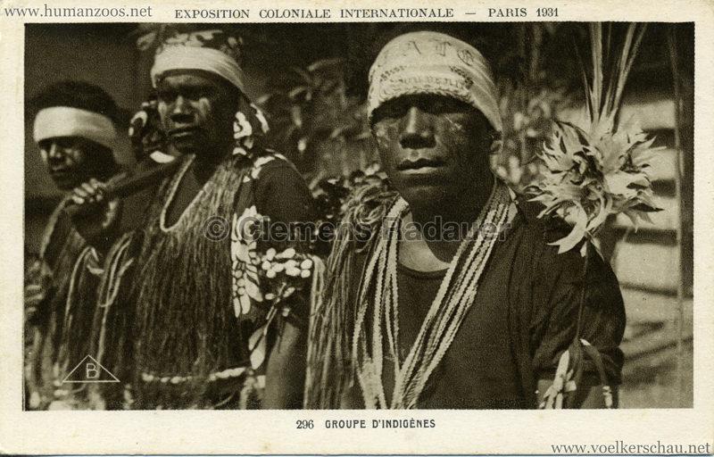 1931 Exposition Coloniale Internationale Paris - 296. Groupe d'Indigènes