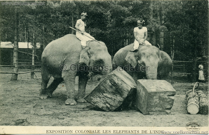 Exposition Coloniale - Les Elephants de l'Inde 2