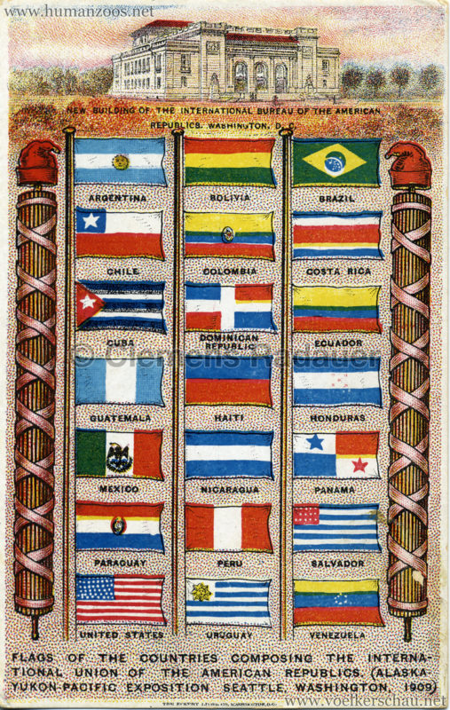 Flags of the countries composing the international union of the american republics
