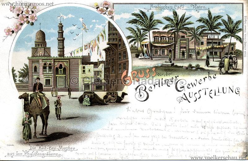 Gewerbe Ausstellung Berlin 1896 - Arabisches Café