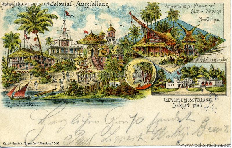 Gewerbe Ausstellung Berlin 1896 - Deutsche Colonial Ausstellung