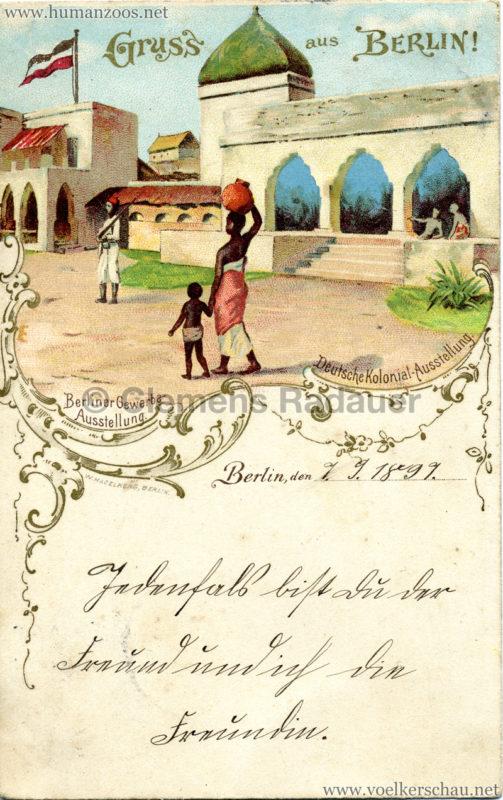 Gewerbe Ausstellung Berlin 1896 - Deutsche Kolonial-Ausstellung
