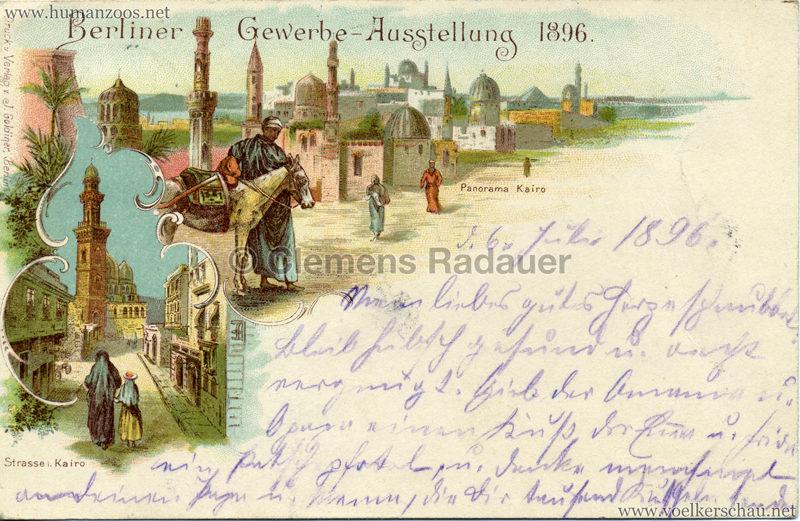 Gewerbe Ausstellung Berlin 1896 - Kairo