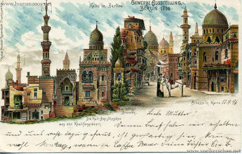 Gewerbe Ausstellung Berlin 1896 - Kairo in Berlin