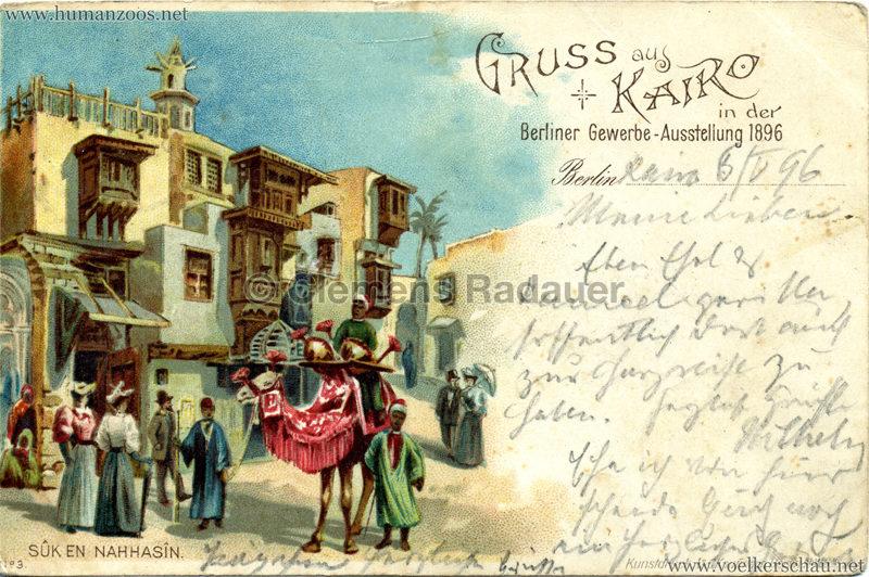 Gewerbe Ausstellung Berlin 1896 - Kairo in Berlin - Suk en Nahhasin