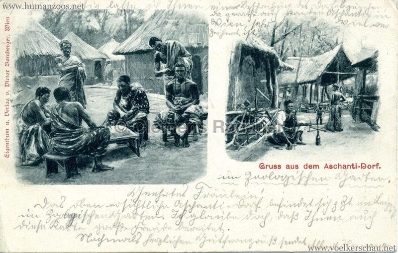 1899 Gruss aus dem Aschanti-Dorf 3
