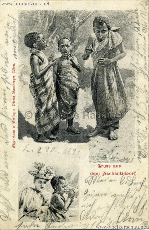 1899 Gruss aus dem Aschanti-Dorf 4