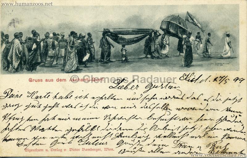 1899 Gruss aus dem Aschanti-Dorf 1