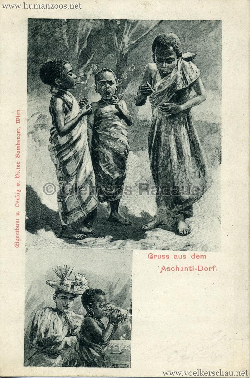 1899 Gruss aus dem Aschanti-Dorf 5