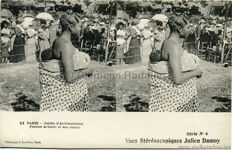 Jardin d'Acclimatation - 11. Femme Achanti et son enfant