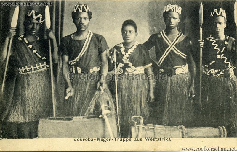 Jouruba-Neger-Truppe aus Westafrika