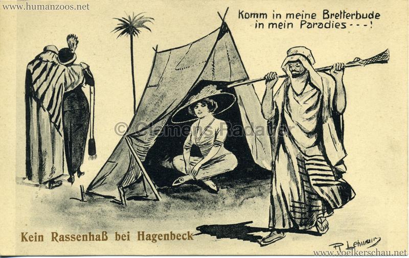 Kein Rassenhaß bei Hagenbeck - Komm in meine Bretterbude - in mein Paradies!