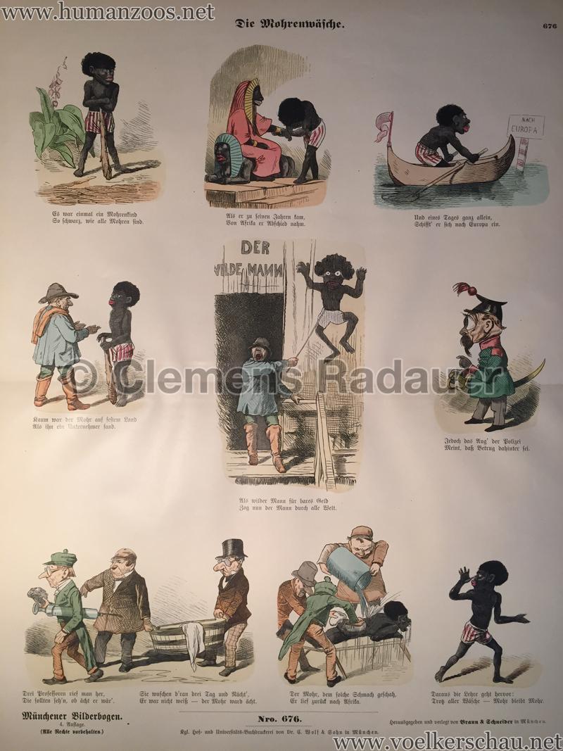 Münchener Bilderbogen Nro. 676 - Die Morgenwäsche