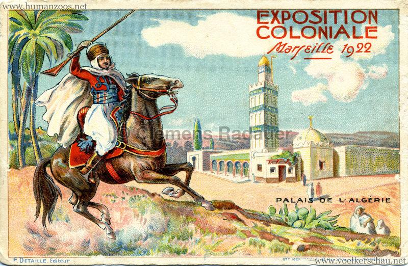 1922 Exposition Coloniale Marseille - Palais de l'Algerie
