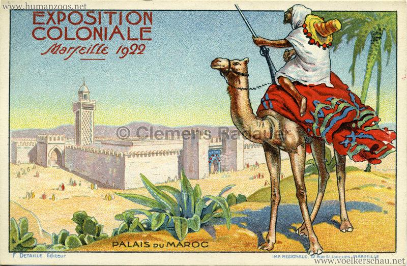 1922 Exposition Coloniale Marseille - Palais du Maroc
