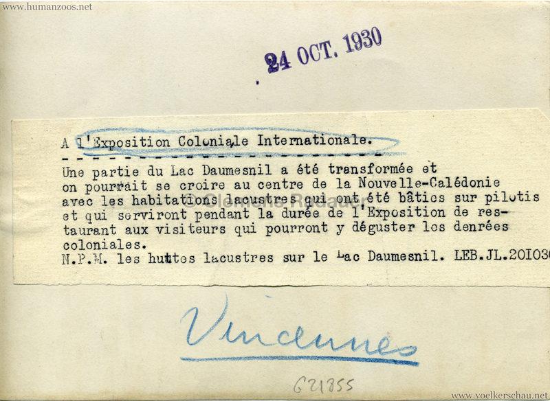 1931 Exposition Coloniale Paris - Pressefoto Nouvelle-Caledonie RS